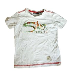 Silver Jeans Co White Tee Shirt Size small